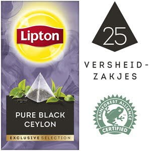 Lipton Exclusive Selection Zwarte Ceylon 25 zakjes -
