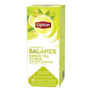 Lipton Feel Good Selection Groene Thee Citrus 25 zakjes