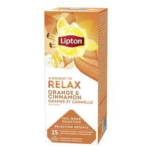 Lipton Feel Good Selection Thee Sinaasappel, Kaneel & Spice 25 zakjes
