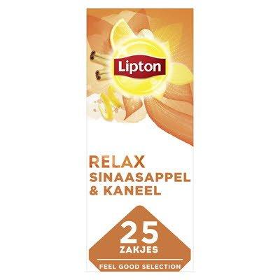Lipton Feel Good Selection Thee Sinaasappel, Kaneel & Spice 25 zakjes -