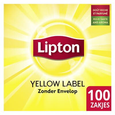 Lipton Feel Good Selection Thee Yellow Label 100 zakjes zonder envelop -