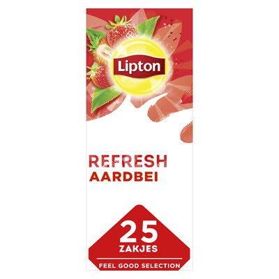 Lipton Feel Good Selection Zwarte Thee Aardbei 25 zakjes -