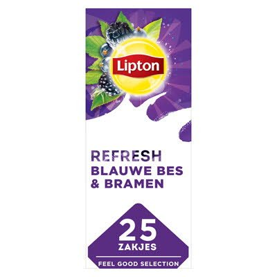 Lipton Feel Good Selection Zwarte Thee Blauwe Bes & Bramen 25 zakjes -