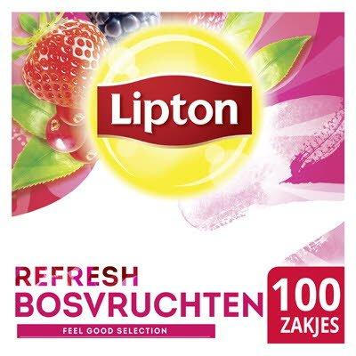 Lipton Feel Good Selection Zwarte Thee Bosvruchten 100 zakjes -