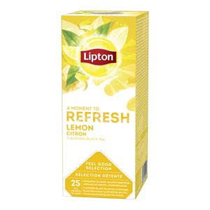 Lipton Feel Good Selection Zwarte Thee Citroen 25 zakjes