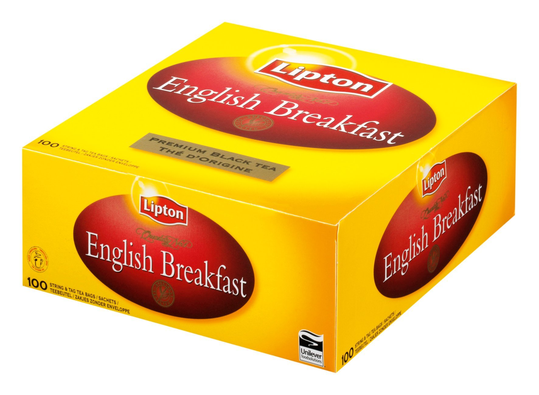Lipton Thee English Breakfast 100 stuks (zonder envelop)