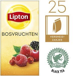 Lipton Thee Professioneel Bosvruchten 25 zakjes