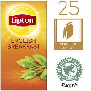 Lipton Thee Professioneel English Breakfast 25 zakjes