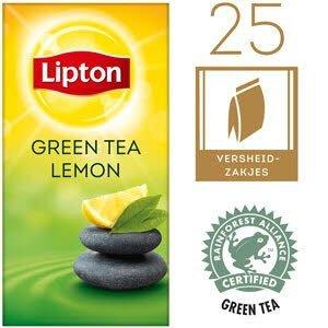Lipton Thee Professioneel Groene Thee Citroen 25 zakjes