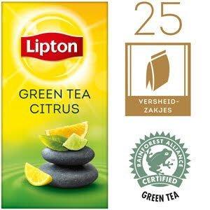 Lipton Thee Professioneel Groene Thee Citrus 25 zakjes