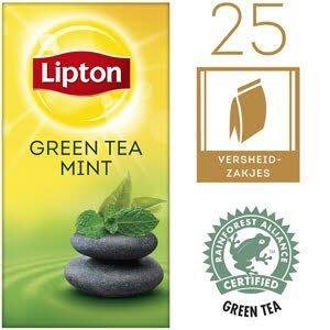 Lipton Thee Professioneel Groene Thee Munt 25 zakjes