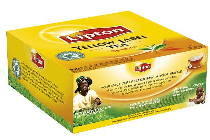 Lipton Thee Professioneel Yellow Label 100 zakjes met envelop