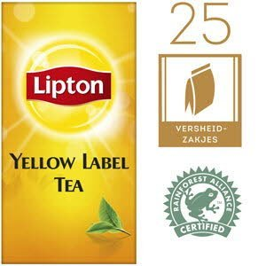 Lipton Thee Professioneel Yellow Label 25 zakjes -