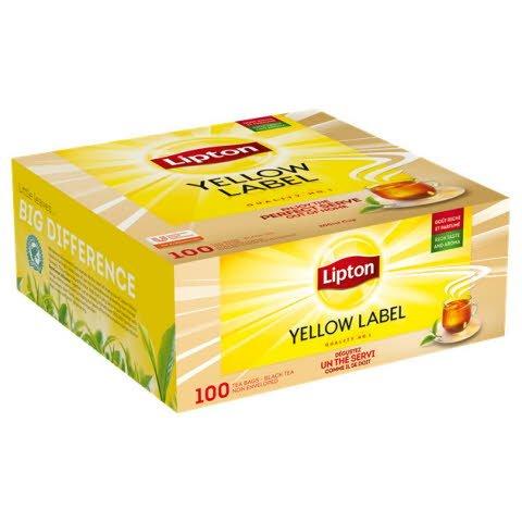 Lipton Thee Yellow Label 100 stuks (zonder envelop)