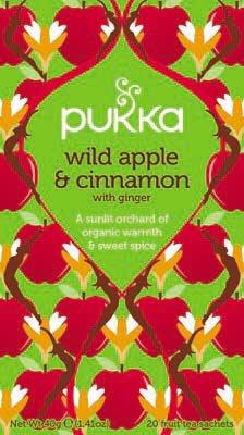 Pukka Wild Apple & Cinnamon 20 zakjes -