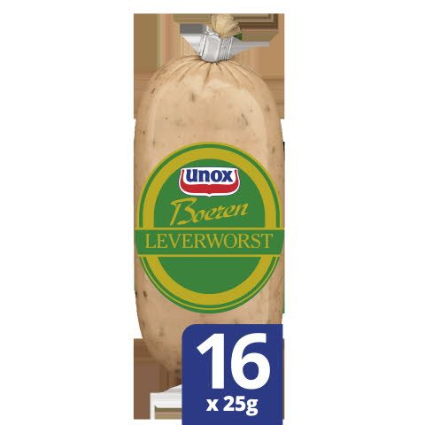 Unox Boerenleverworst 16x25g -