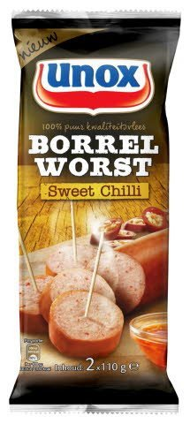 Unox borrelworst Sweet Chili