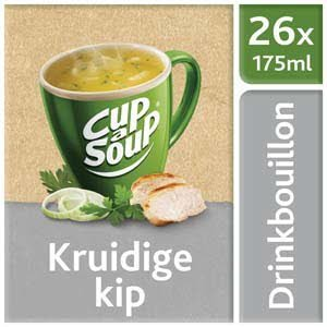 Unox Cup-a-Soup Drinkbouillon Sachets Kruidige Kip 26 x 175 ml