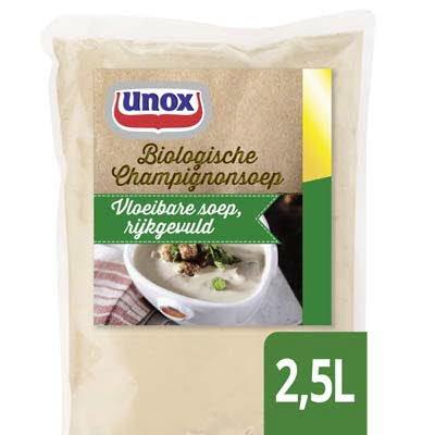 Unox Vloeibare Biologische Champignonsoep 2,5L -
