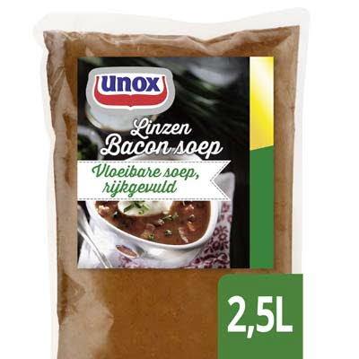Unox Vloeibare Linzen Bacon Soep 2,5L -