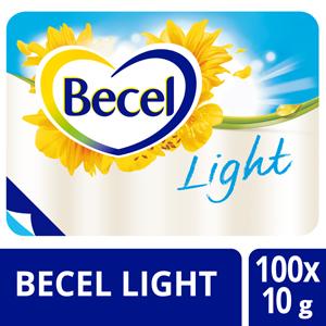 Becel Light Margarine 38% portieverpakking 100x10g - Help je patiënten zich thuis te voelen door hun favoriete merk te serveren.