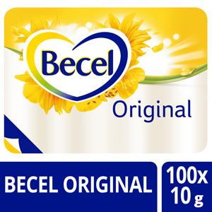 Becel Original 60% portieverpakking 100x10g - Help je patiënten zich thuis te voelen door hun favoriete merk te serveren.
