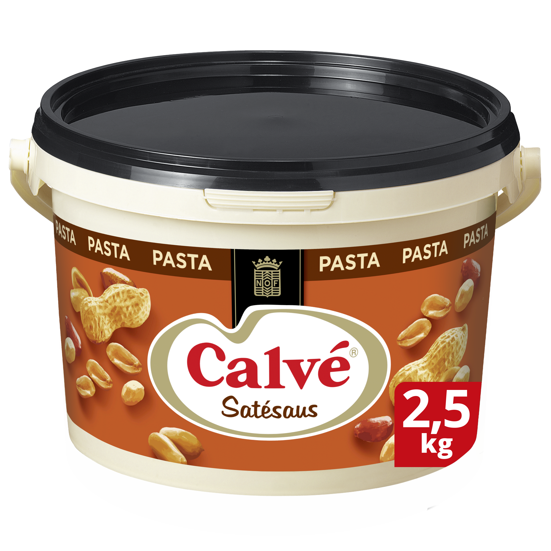 Calvé Satésaus Pasta 2,5kg - Calvé geeft een authentieke pindasmaak aan jouw satésaus
