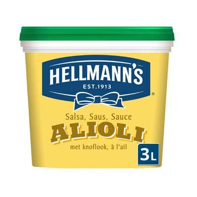 Hellmann's Aioli 3L - Heerlijke recepten en makkelijk in gebruik: probeer nu Hellmann's Alioli