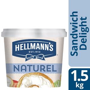 Hellmann's Sandwich Delight Naturel 1,5kg - Hellmann's Sandwich Delight maakt je broodjes smeuïg zonder te overheersen in smaak.