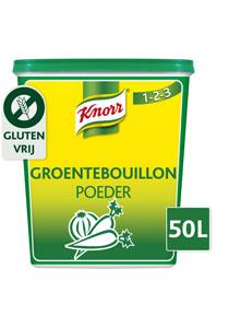 """Knorr 1-2-3 Groentebouillon - Knorr 1-2-3 Groentebouillon geeft gerechten een krachtige smaak en is glutenvrij."""""""