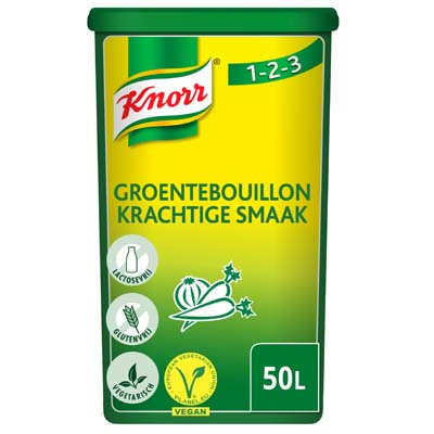 Knorr 1-2-3 Groentebouillon krachtige smaak Poeder 50L