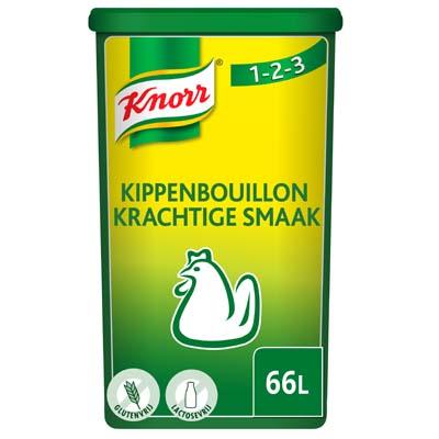 Knorr 1-2-3 Kippenbouillon krachtige smaak Poeder 66L - Ontdek Knorr Kippenbouillon in poeder, voor een krachtige smaak