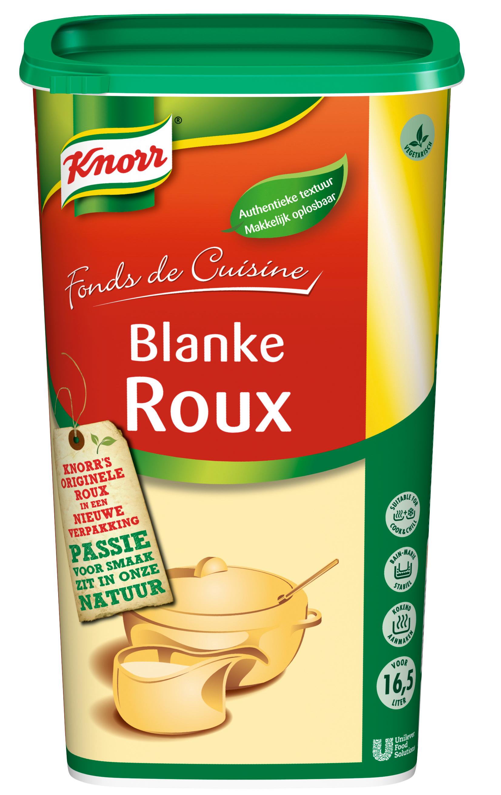 Knorr Blanke Roux 1kg - Knorr Roux bindt je sauzen, perfect in een oogwenk, elke keer opnieuw.