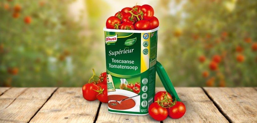Knorr Supérieur Toscaanse Tomatensoep - 72 tomaten per bus