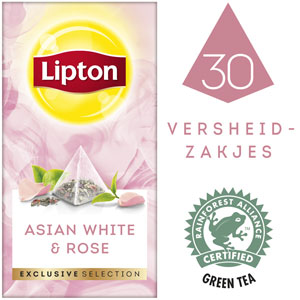 Lipton Exclusive Selection Aziatisch Wit en Rozenblaadjes 30 zakjes