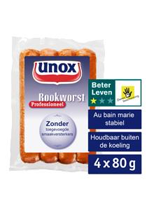 Unox Rookworst Professioneel 4 x 80 gram - Verkoop meer door Broodje Unox