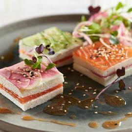 Gerookte zalm met wasabi sandwich