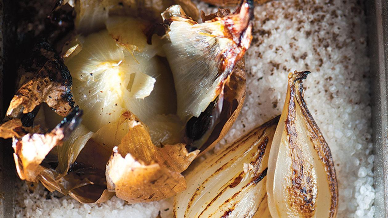 Cevenne-uien in zoutkorst