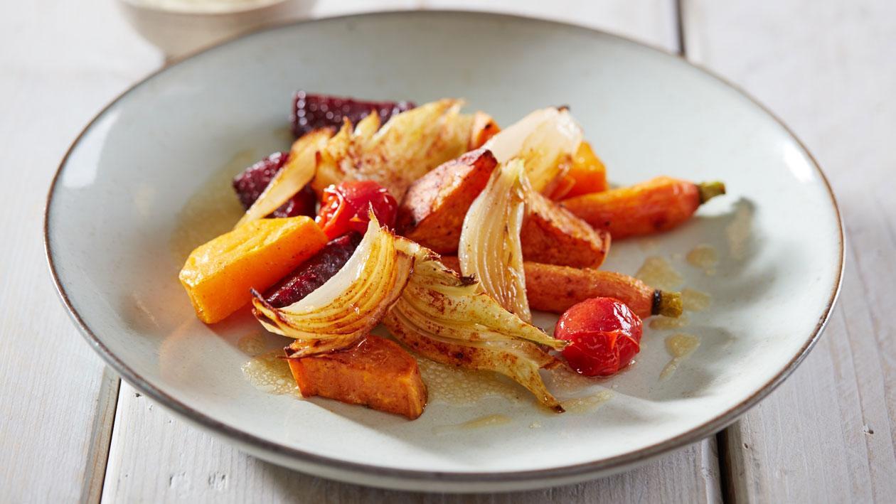Geroosterde groenten met citrus vinaigrette