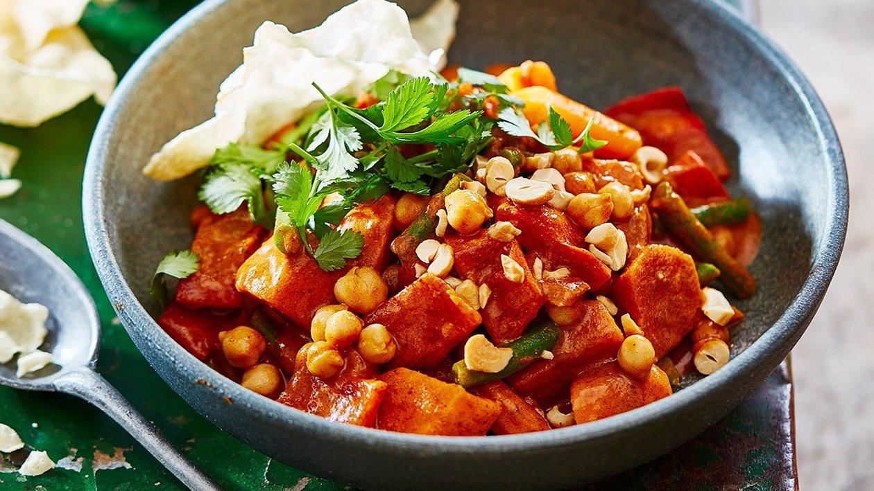 Groente curry met kokos en cashewnoten