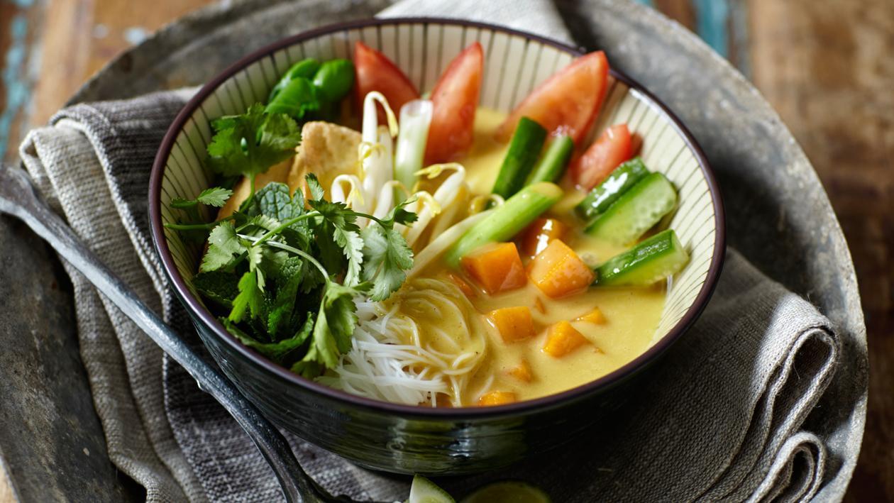 Javaanse curry groentesoep met tofu - Unox