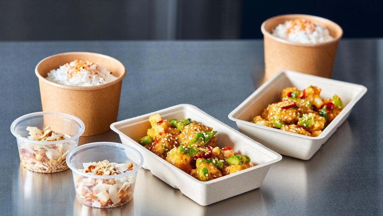 Korma met vegetarische gehaktballetjes (delivery)