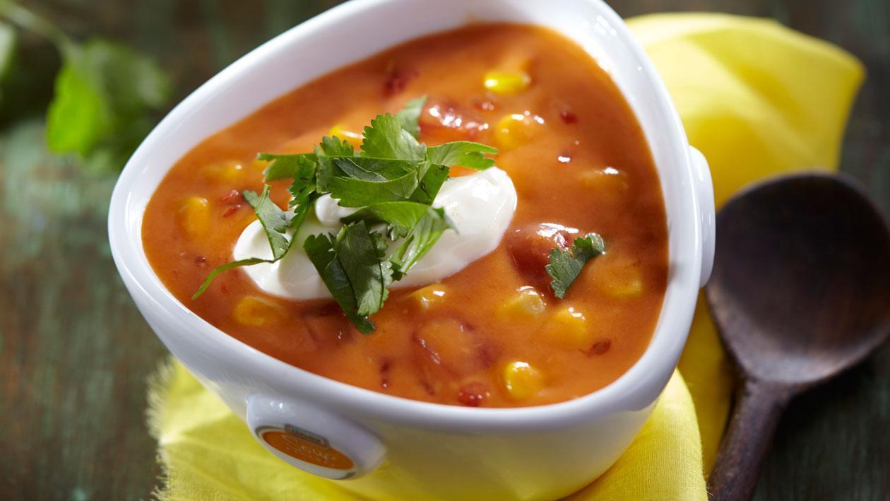 Mexicaanse tomatensoep met mais