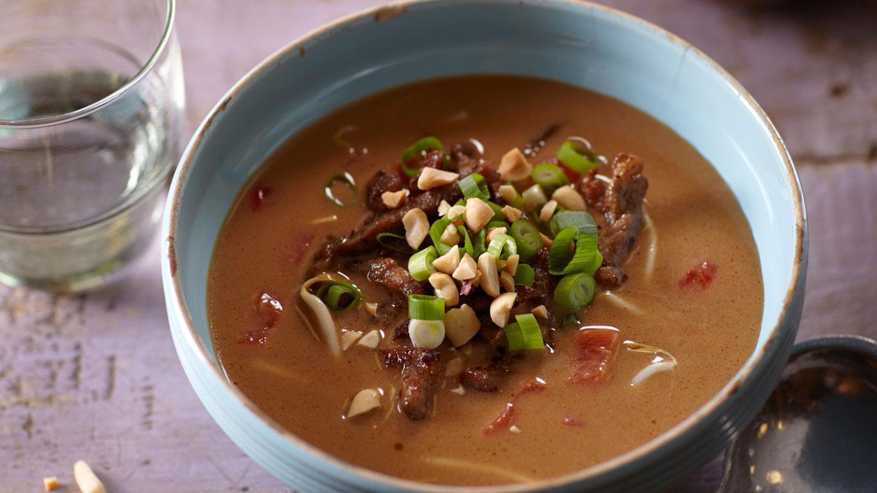 Pindasoep uit Suriname met gekruid vlees - Unox
