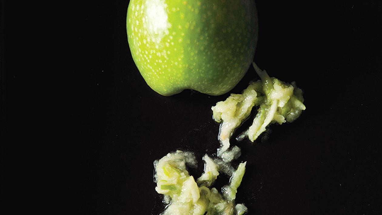 Puree van groene appels en gember