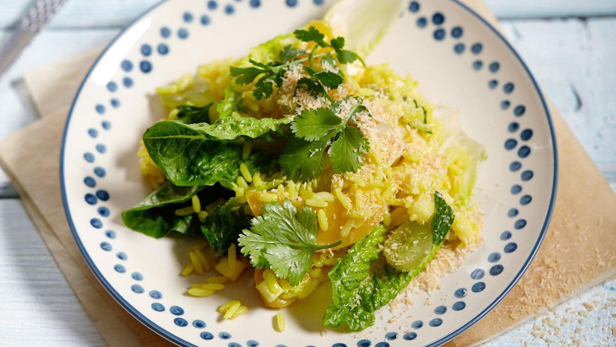 Rijstsalade met kerrie en kokos