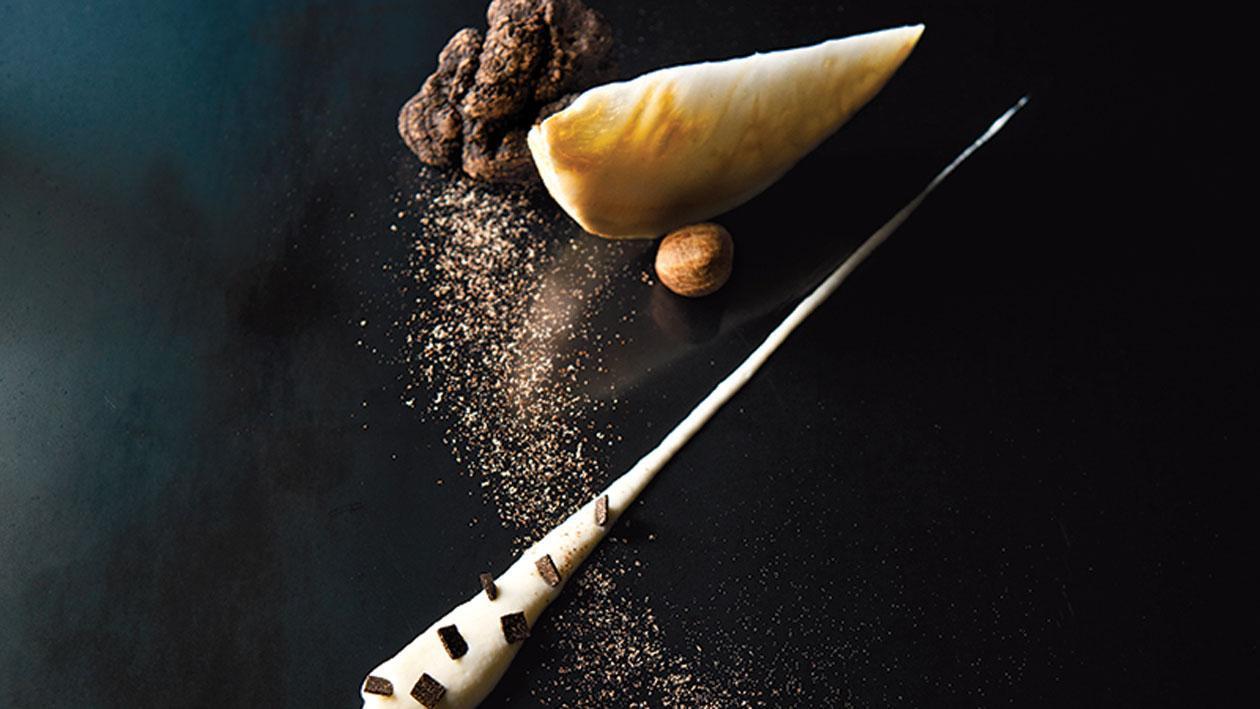 Stracciatella van selderij en truffel
