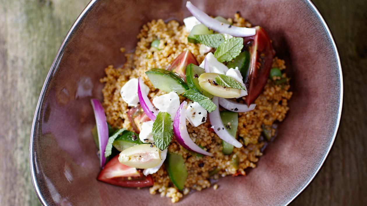 Taboulé met Griekse salade