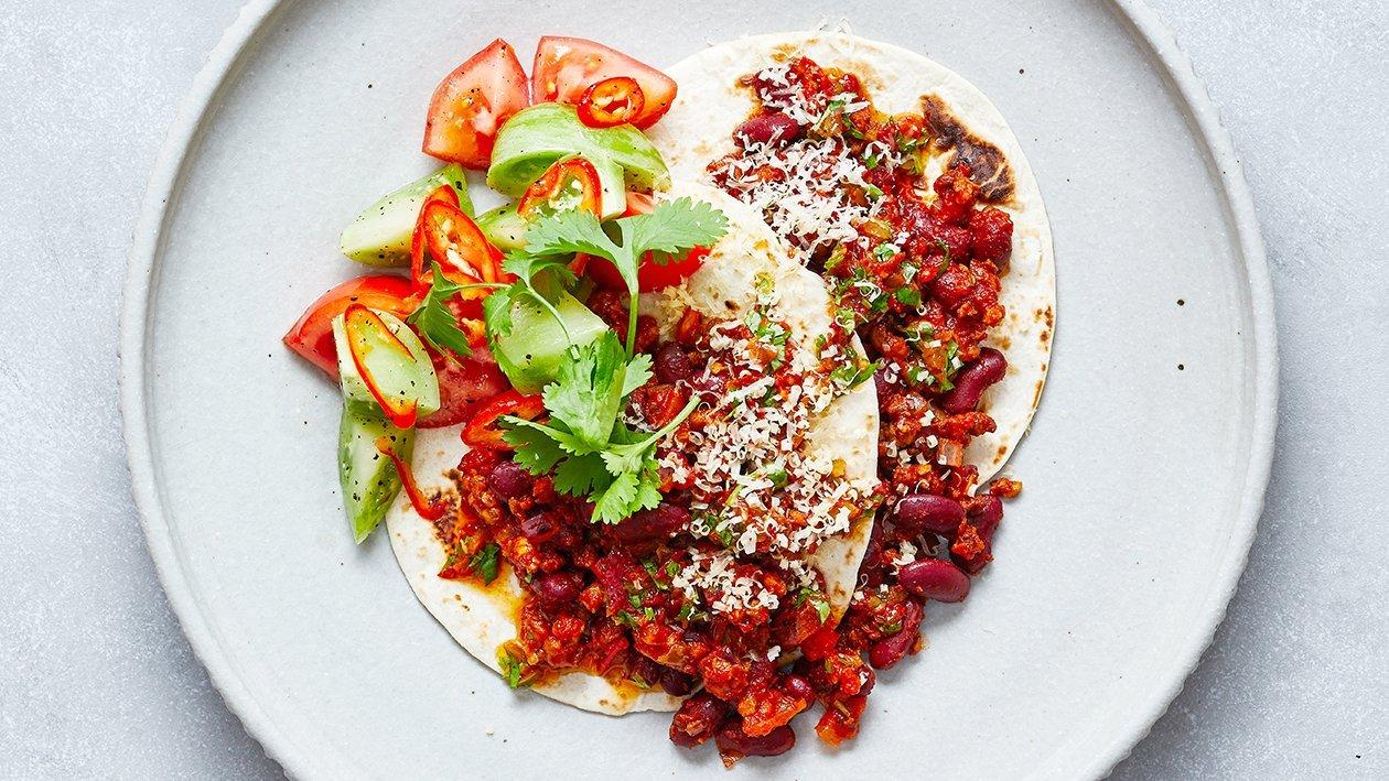 Taco's sin carne
