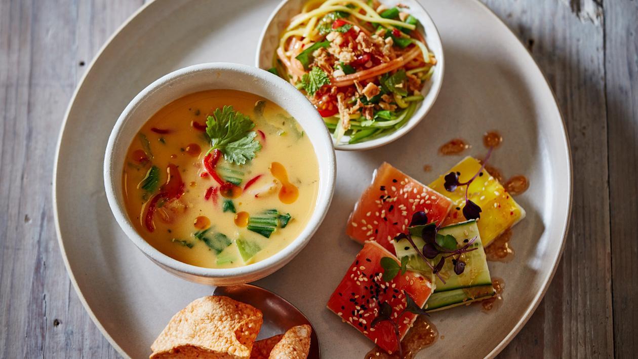 Thaise currysoep met pompoen